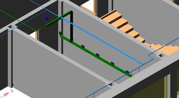 Низкая плотность расстановки оборудования при реальных размерах в 3D-модели