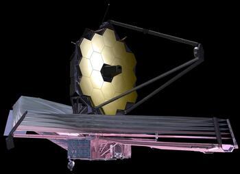 Телескоп «Джеймс Уэбб» глазами художника