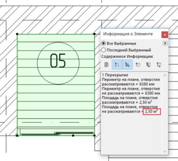 Рис. 9. Панель Информация о элементе