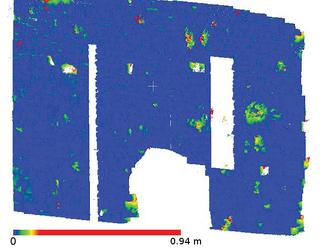 Рис. 5. Фрагмент 3, погрешность колеблется от 0 до 0,94 м