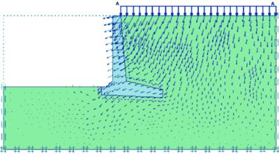 Рис. 2. Устройство подпорной стенки