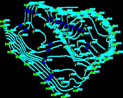 Точки, вставленные в рисунок AutoCAD из текстового файла
