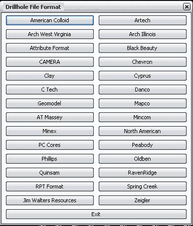 Рис. 1. Стандартные форматы данных по скважинам