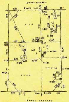 Абрис земельного плана