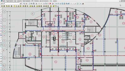 План этажа здания