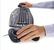 Положение рук при одновременном использовании мыши и манипулятора