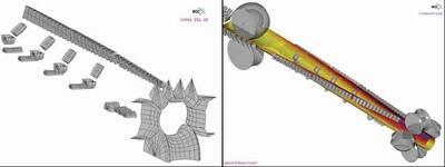 Автоматическая разработка модели анализа методом конечных элементов с помощью СОРRA FEA RF
