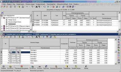 Формирование спецификации расчетного документа