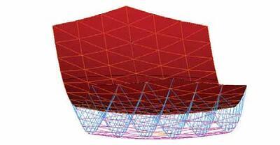 Каркас антенны, аппроксимирующий теоретическую поверхность антенны
