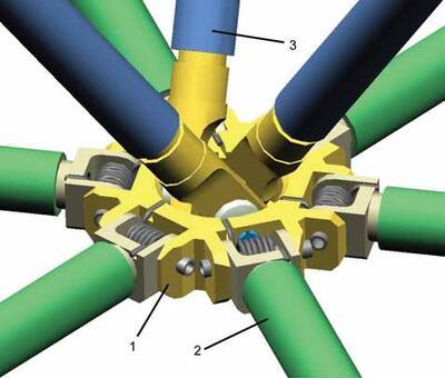 Конструкция узла каркаса антенны