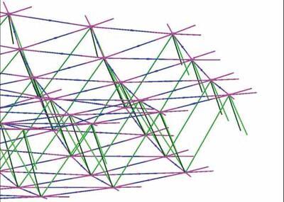 Геометрия каркаса антенны, созданная в CAD-системе