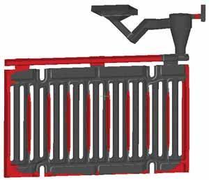 Распределение феррита в отливке из серого чугуна (ГУП Литейно-прокатный завод, г. Москва)