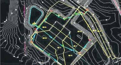 Генплан площадки с подъездными автодорогами