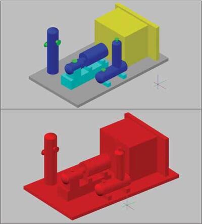 Рис. 12. Вверху – исходный набор компонентов, внизу – новый компонент