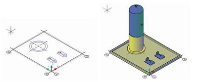Рис. 1. Функция быстрого перехода из режима 2D-проектирования в режим 3D
