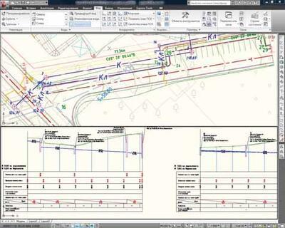 Санитарная и ливневая канализации, план и профиль