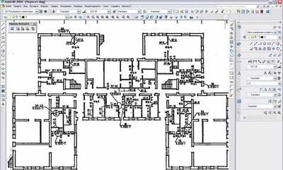 Передача в AutoCAD чертежа типового проекта