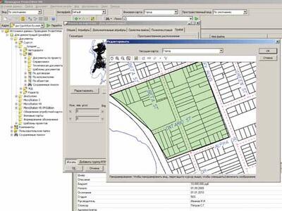 Рис. 2. Поиск документов по положению на карте