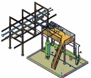 Рис. 1. Пример 3D-модели установки