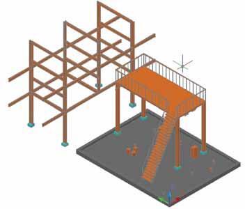 Рис. 2. Строительные конструкции в Model Studio CS Трубопроводы