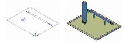 Рис. 4. Функция перехода из режима 2D-проектирования в 3D