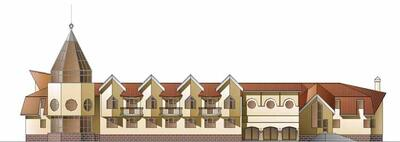 Гостиница в Черноголовке, главный фасад