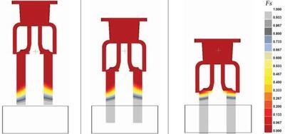 Рис. 6. Кристаллизация отливки при погружении в ЖМО