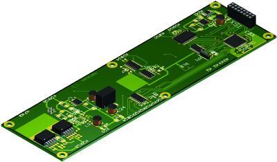 Рис. 2. Внешний вид платы, импортированной в Autodesk Inventor с помощью STEP-формата