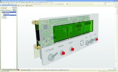 Рис. 4. Altium Designer. Проектирование ПП с учетом элементов внешней конструкции