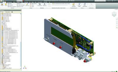 Рис. 6. Электронное устройство в Autodesk Inventor
