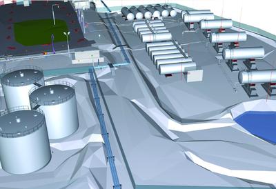 3D-модель нефтебазы