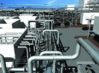 3D-модель, выполненная в PLANT-4D