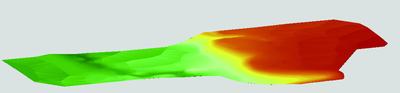 Рис. 11. Раскраска поверхности по высоте и углам наклона