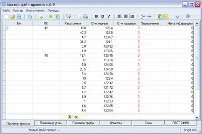 Рис. 24. Формирование файла исходных данных