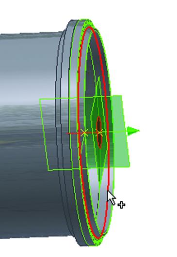 Рис. 14. Определение точки вставки эллиптического днища
