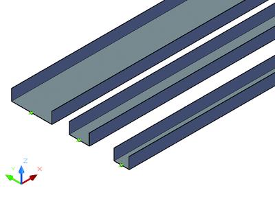 Листовые лотки различного сечения