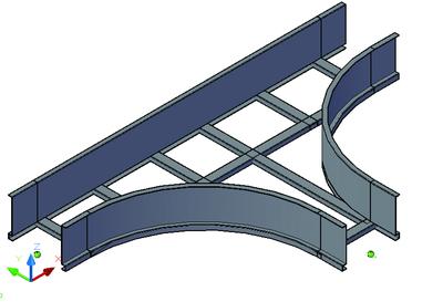 Лоток тройниковый лестничного типа