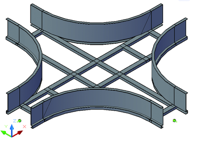 Лоток крестообразный лестничного типа