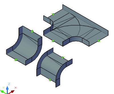 Переходные конструкции для листовых лотков