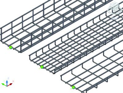 Проволочные лотки различных типоразмеров и с заданными размерами ячейки сетки