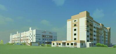 Медицинский комплекс. Вид с улицы Адмирала Макарова