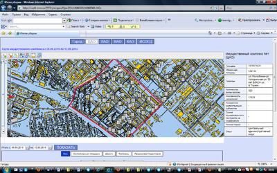 Рис. 3. Общий вид приложения с навигацией по округам г. Тюмени