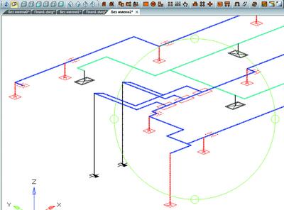 nanoCAD ОПС 3.0. Автоматически созданный 3D -вид системы