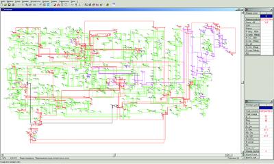 Рис. 6. Графическое представление расчетной схемы в EnergyCS ТКЗ