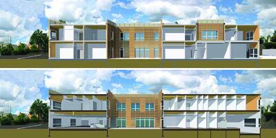 Рис. 6. Архитектурная модель детского госпиталя ESEAN в Нанте (Франция), полностью выполненная по технологии BIM. Фирма Brunet-Saunier Architectes, 2009 г.