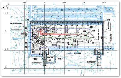 Разбивочный план (горизонтальная планировка)