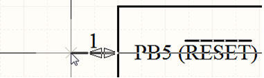 Рис. 23. Перемещение вывода компонента