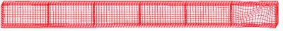 Рис. 2.2.2. Форма потери устойчивости стенки балки в опорном отсеке