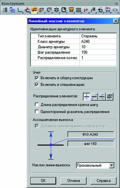 Линейное распределение элементов