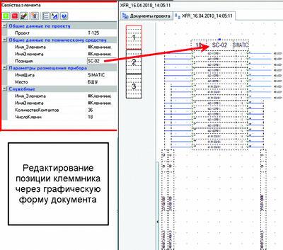 Рис. 7. Редактирование модели проекта через ГФД